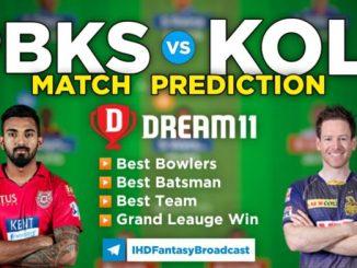 PBKS vs KOL Dream11 Team Prediction 21st Match IPL 2021 (100% Winning Team)