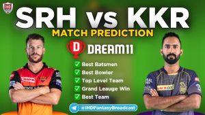 SRH vs KKR Dream 11 Team Prediction 3rd Match IPL 2021 (100% Winning)