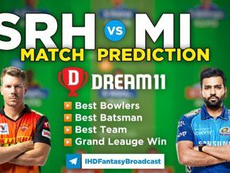SRH vs MI Dream11 Team Prediction 31st Match IPL 2021 (100% Winning Team)