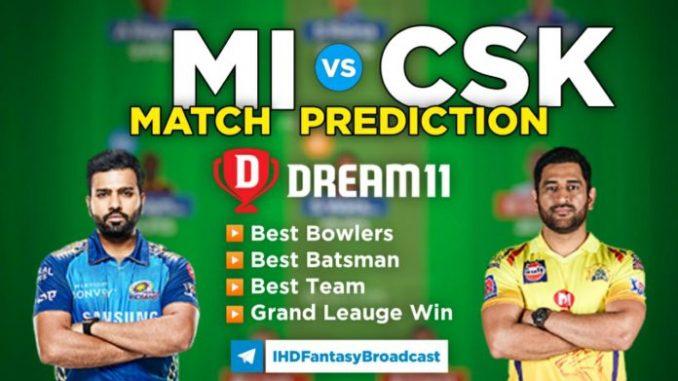 MI vs CSK Dream11 Team Prediction 27th Match IPL 2021 (100% Winning Team)