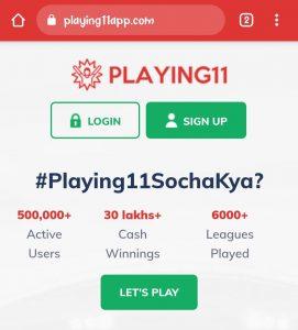 Playing 11