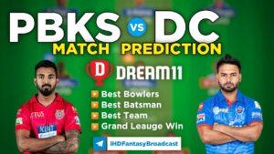 PBKS vs DC Dream11 Team Prediction 29th Match IPL 2021 (100% Winning Team)