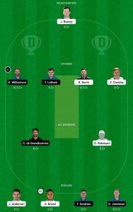 NZ vs ENG Dream11 Team for Small League