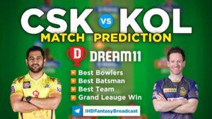 CSK vs KOL Dream11 Team