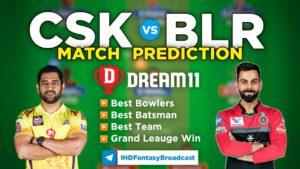 BLR vs CSK Dream11 Team Prediction 35th Match IPL 2021 (100% Winning Team)