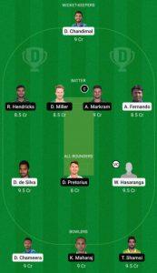 SL vs SA dream11 team grand league