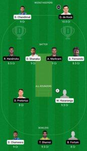 SL vs SA dream11 team small league